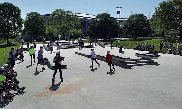Maloof Skate Park in Washington D.C.