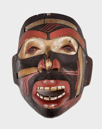 Masque, Heiltsuk ou Haïda, 1800-1850