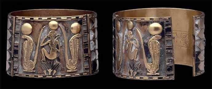 Bracelets de Nimlot, 22e dynastie, règne de Sheshonq 1er, vers 940 av. J.-C., EA 14594 et 14595. © The Trustees of the British Museum – WestmountMag.ca