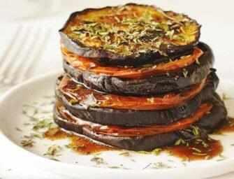 Amour et épices : Aubergines et tomates rôties au goût méditerranéen