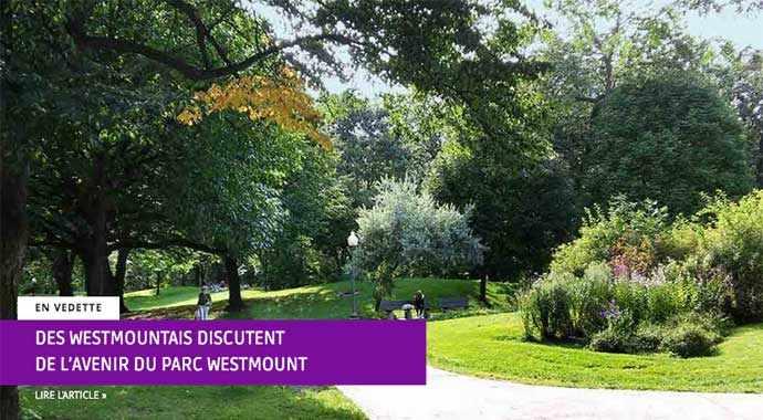 Des Westmountais discutent de l'avenir du parc Westmount