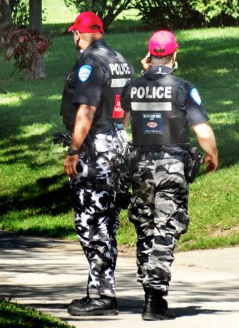Police on park patrol