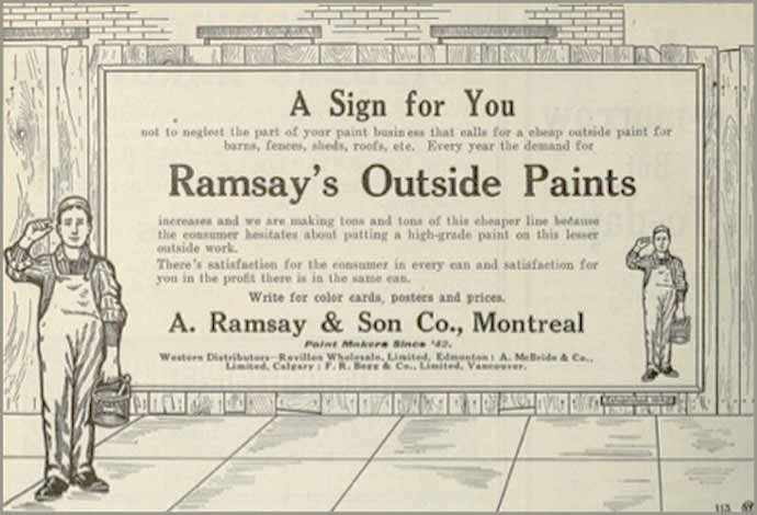 Ramsay's Paints ad - WestmountMag.ca