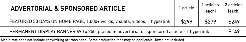 Rates - Advertorial