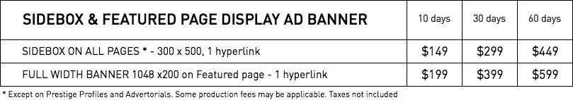 Rates - Display ads – WestmountMag.ca