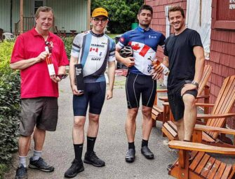 Reservist cycles Laurentians <br>for three foundations
