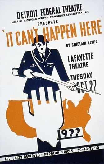It Can't Happen Here Poster - WestmountMag.ca