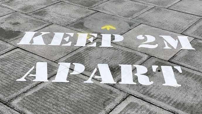 Keep 2 m apart - WestmountMag.ca