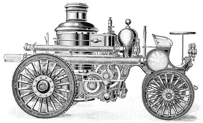 late 1880s steam fire engine