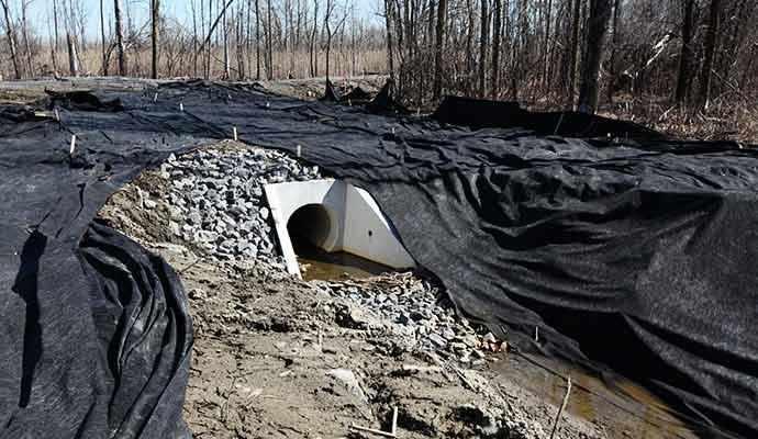 culvert draining the Technoparc Wetlands - WestmountMag.ca