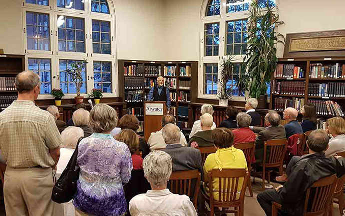 Atwater LIbrary book launch