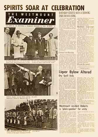 Westmount Examiner Centennial Day - WestmountMag.ca
