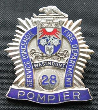 Westmount Fire Department badge