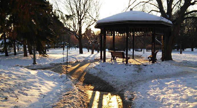 Westmount Park gazebo - winter
